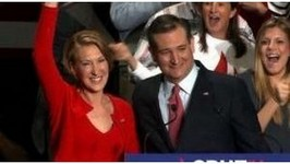 Watch: Carly Fiorina Fall Off Stage During Ted Cruz Rally