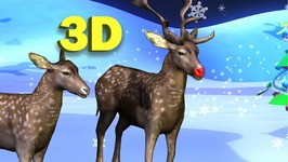 Rudolph The Red nosed Reindeer 3D - 3D Christmas songs - Christmas songs for Kids