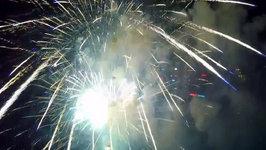 Drone Captures Spectacular Hong Kong Fireworks