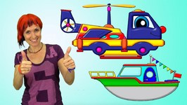Cartoons for Kids - Maria's Crocodile Rescue With HELPY Truck Transformer