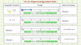 Ex 2: Express Intervals Using Inequalities, Graphs, And Interval Notation