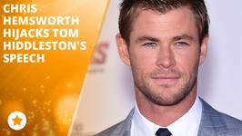 Chris Hemsworth crashes Tom Hiddleston's award speech