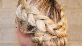 How To - Dutch Braid Rolled Updo