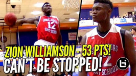 Zion Williamson 53 Points In Front of Sold Out Crowd at Chick Fil A Classic