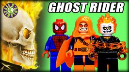 Lego Ghost Rider, Spiderman, Hobgoblin in Lego Set Spider Man- Ghost Rider Team up