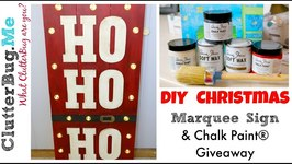 DIY Christmas Marquee Sign - Chalk Paint