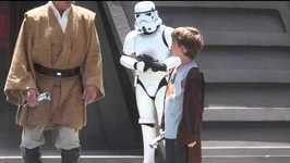 Little Jedi Loses His Light Saber