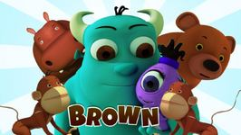 The Color Brown - Monster Family Colors and Shapes