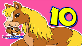 10 Little Horses - Counting for Kids - Learn English - Maths Practice - Teach ESL
