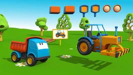 Kid's 3D Construction Cartoons For Children  Leo's Road Roller   3d construction Like TuTiTu