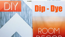 DIY Dip Dye Wall Art  Dorm Room Decor