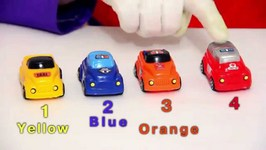 Children's Videos  Car Clown - Kissing And Counting A Color Car Convoy  Cartoons For Kids