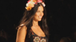 Adriana Lima Struts Her Stuff for Desigual at NYFW