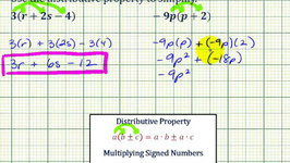 Ex 2: Apply the Distributive Property