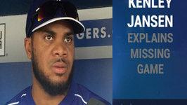 Dodgers Closer Kenley Jansen Explains Missing Game