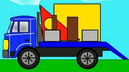 Smart Kids Learn Color Cartoons For Children 4  Build A House From Shapes