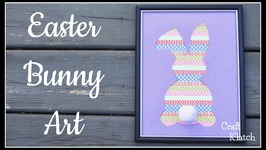 Easter Bunny Art DIY  Easter Crafts  Craft Klatch