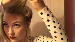 Vintage Inspired Side Ponytail With Victory Rolls