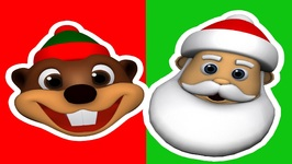 Look Out - Here's Santa - Baby Beavers Christmas Carols - Kids Learn Fun Songs - Kindergarten
