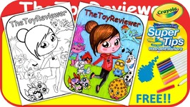Exclusive TheToyReviewer Coloring Book Page Crayola Markers Unboxing Toy Review