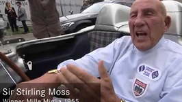 Sir Stirling Moss meets Lewis Hamilton - Mille Miglia