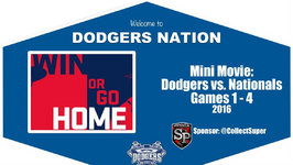 Mini Movie -  Dodgers Game 1 - 4  - leading Up to a Crucial Game 5 in the NLDS