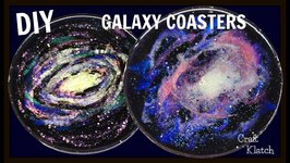 Resin Galaxy Coasters  DIY Project  Craft Klatch  Another Coaster Friday  How To