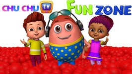 Kids play in HUGE Gumball Machine, Ball Pit and Surprise Eggs to Learn Color Red - ChuChu TV Funzone
