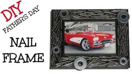 DIY Nail Frame - Father's Day Gift Ideas Series
