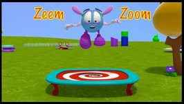 Bounce On A TRAMPOLINE - Zeem Zoom Cartoons Games For Children To Learn To Count