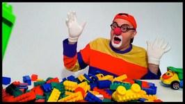 videos for kids lego car clown clone childrens toy trucks videos