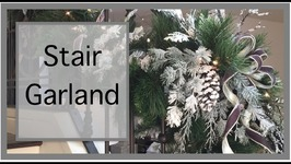 Christmas Decorating Ideas  Christmas Garland  Staircase Garland
