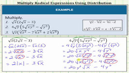 Multiplying Radical Expressions With Variables Using Distribution