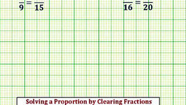 Ex: Solve a Proportion by Clearing Fractions (x/ab/c, Whole Num Solution)