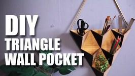 Mad Stuff With Rob - Triangle Wall Pocket  Room Decor Ideas