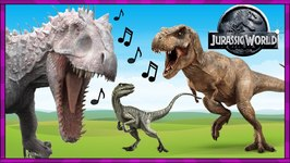 JURASSIC WORLD ECHO -Dinosaur Song Video with REAL LIFE T-REX   Dancing DINOSAURS