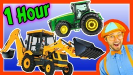 Colors Song, Nursery Rhymes, Learn to Count for Toddlers Tractor Backhoe Collection for Kids1 Hour