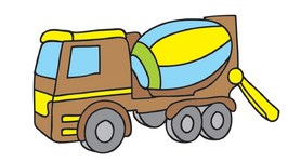 Color My Favorite Toys 3  Helicopter And Cement Mixer