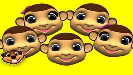 5 Little Monkeys - Classic Nursery Rhymes for Kids - Learn Songs for Children - Preschool Teacher