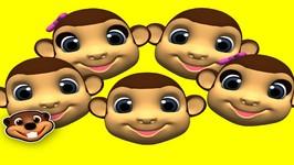 5 Little Monkeys - Classic Nursery Rhymes for Kids - Learn Songs for Children - Preschool Teacher