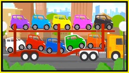 Doc McWheelie - CAR TRANSPORTER - Learn Colors  Learn Numbers
