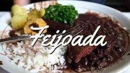 Feijoada Brasileira - Delicious Brazilian Feijoada stew with beans, meat and rice in Rio de Janeiro