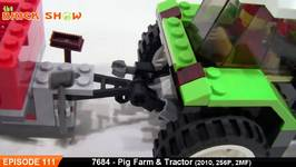 LEGO City Pig Farm And Tractor Review - LEGO 7684