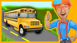 Blippi Wheels On The Bus - Songs For Toddlers
