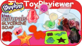 Kiss Naturals Glycerine Soap DIY Craft Making Kit SHOPKINS Unboxing Toy Review
