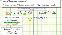 Ex: Percent Application - Number of Correct Questions Given Percent (Equation and Proportion)