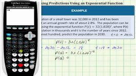 Evaluate A Given Exponential Function To Predict A Future Population