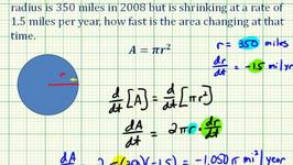 Example 2: Related Rates - Determine The Rate Of Change Of The Area Of A Circle With Respect To Time
