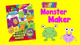 Make Cool Neon Monsters With Softee Dough Play Doh Videos For Children