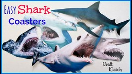 Easy Shark Trivia Coasters for Shark Week!  Another Coaster Friday  Craft Klatch